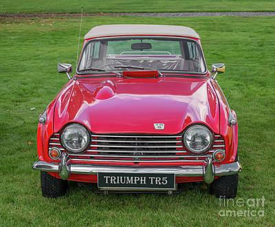 Photograph - Triumph Tr5  by Adrian Evans