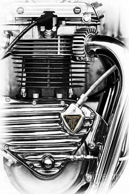 Photograph - Triumph Triton Engine by Tim Gainey
