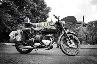 Spitfire Photograph - Triumph Trw 1952 by Mark Rogan