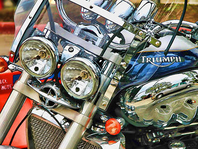 Two Wheeler Digital Art - Triumph by Wendy J St Christopher