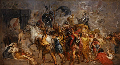 Painting - Triumphal Entry Of Henry Iv In Paris by Peter Paul Rubens