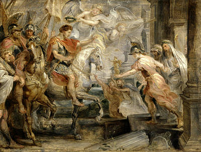 Angel Art Painting - Triumphant Entry Of Constantine Into Rome by Peter Paul Rubens