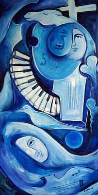 Triumphe Bleu Art Print