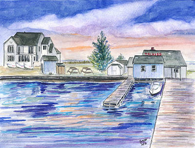 Painting - Trixies Marina by Clara Sue Beym