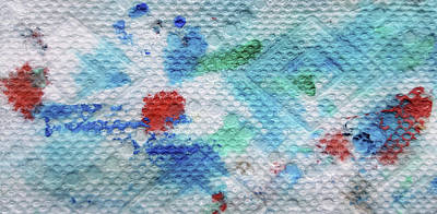 Blue Painting - Trois Coeurs by Dave Martsolf