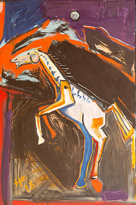 Painting - Trojan Horse by Hans Magden