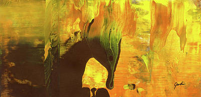Painting - Trojan Horse On Fire - Orange And Brown Abstract Art Painting by Modern Art Prints
