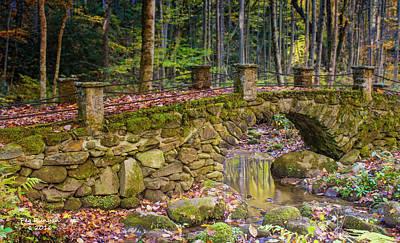 Photograph - Troll Bridge At Elkmont by Peg Runyan