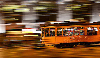 Trolley 1856 On The Move Art Print