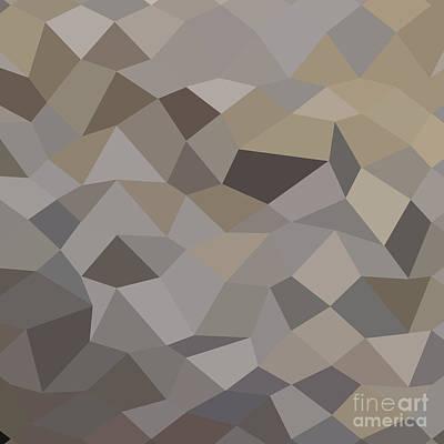 Trolley Grey Abstract Low Polygon Background Art Print by Aloysius Patrimonio