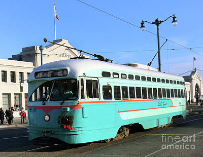 Photograph - Trolley Number 1076 by Steven Spak