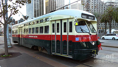 Photograph - Trolley Number 1077 by Steven Spak
