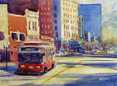 Painting - Trolley On Gay Street by Carl Whitten