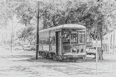 Photograph - St Charles Trolley Line New Orleans by Rene Triay Photography