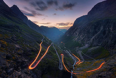 Mountain Valley Photograph - Trolls' Path by Tor-Ivar Naess