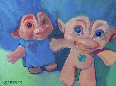 Painting - Trolls Selfie by Nancy Roberts