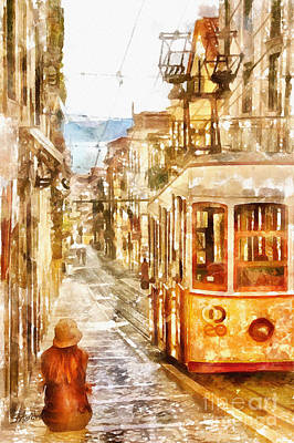 Painting - Trolly By The Bay by Shirley Stalter