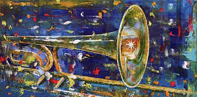 Night Club Painting - Trombone by Michael Creese