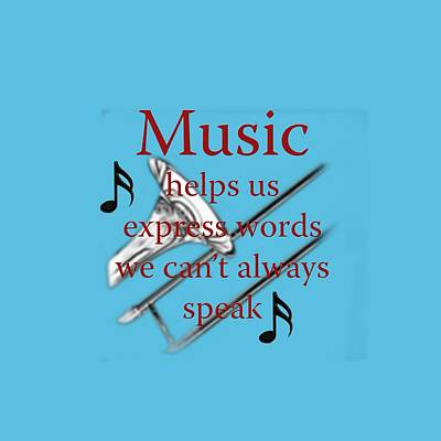 Photograph - Trombone Music Expresses Words by M K Miller