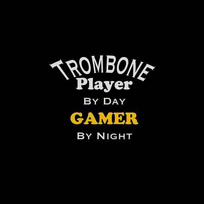 Photograph - Trombone Player By Day Gamer By Night 5627.02 by M K Miller