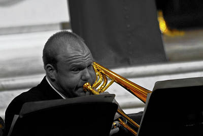 Photograph - Trombone Player by Miroslava Jurcik