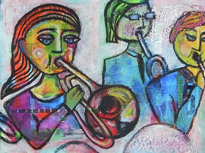 Trombone Mixed Media - Trombone Shorty by Mary Conner