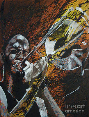 Painting - Trombone Shorty by Stuart Engel