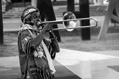 Photograph - Trombonist by Gregory Daley  PPSA