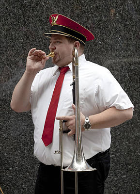 Marching Band Photograph - Trombonist by Robert Ullmann