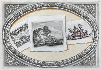 Painting - Trompe L'oeil, Prints With Londonio's Calling Card by Francesco Londonio and Benigno Bossi