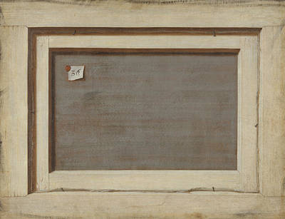 Reverse Painting - Trompe L'oeil. The Reverse Of A Framed Painting by Cornelis Norbertus Gysbrechts