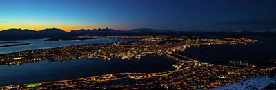 Photograph - Tromso At Night  by Mariusz Czajkowski