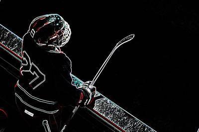 Tron Hockey - 1 Art Print by Tya Kottler