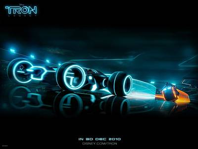 Lights Digital Art - Tron Legacy Light Battle by Emma Brown