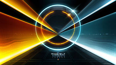 Tron Digital Art - Tron Legacy Movie by F S