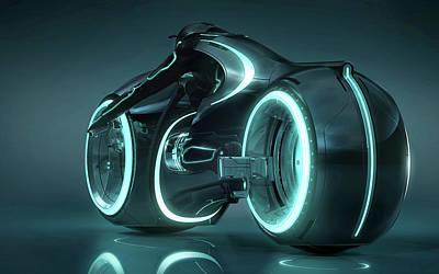 Tron Light Cycle Art Print