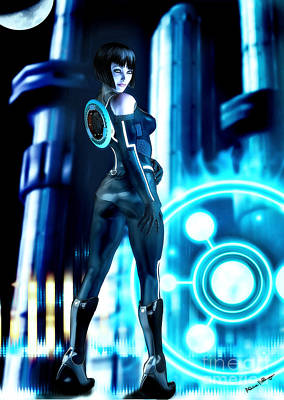 Digital Art - Tron Quorra by Alicia Hollinger