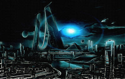 Tron Revisited Art Print by Mario Carini