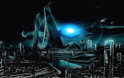Tron Wall Art - Digital Art - Tron Revisited by Mario Carini