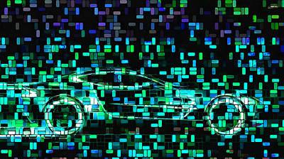 Digital Art - Tron Transport by Mario Carini