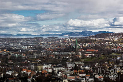 Photograph - Trondheim From Above by Suzanne Luft