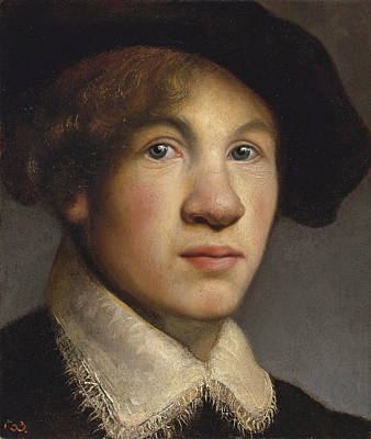 Tronie Of A Young Man Possibly A Portrait Of The Young Rembrandt Art Print