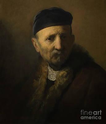 Tronie Of An Old Man, By Rembrandt, Circa 1630, Royal Art Galler Art Print