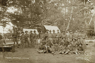 Photograph - Troop C, First Squadron Of Cavalry Of The California National Guard 1910 by California Views Mr Pat Hathaway Archives