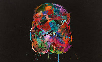 Trooper In A Storm Of Color Art Print by Mitch Boyce