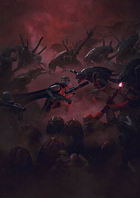 Soldiers Digital Art - Troopers Vs Space Cockroaches 6 by Guillem H Pongiluppi