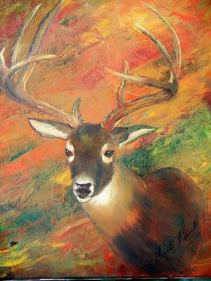 Trophy Deer Art Print by Lynda McDonald