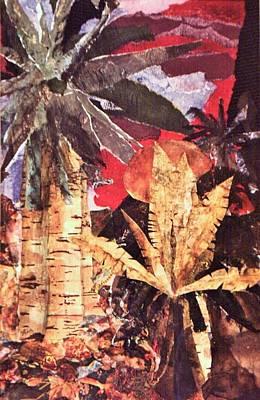 Palm Trees Mixed Media Mixed Media - Tropic Blaze by Sharon Eng