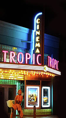 Assembly Hall Photograph - Tropic Cinema by Art Spectrum