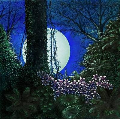 Art Print featuring the painting Tropic Moon by Michael Frank